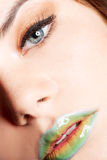 Detailed woman's makeup Royalty Free Stock Image