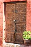 Detailed Wood Window Shutter - Santa Catalina Convent, Arequipa, Stock Photos