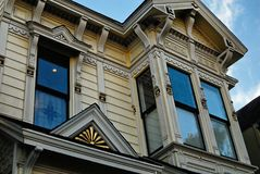 A classic Victorian facade in San Francisco. royalty free stock photography