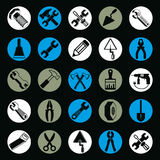 Detailed work tools collection, vector 3d repair instruments Stock Photo