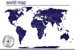 Detailed world map Stock Images