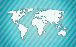 Detailed World Map. A detailed illustration of a world map Royalty Free Stock Image