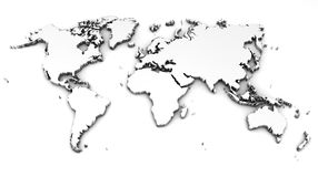 Detailed world map Royalty Free Stock Photography