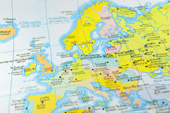 Detailed world map. With countries and cities Royalty Free Stock Images