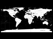 Detailed World Map with Names of Countries Stock Photo