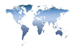 Detailed world map vectors Stock Photos