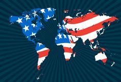 Detailed world map vectors. Detailed world map in s Stock Photo