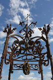 Detailed  Wrought iron decorative Wellhead Stock Photography
