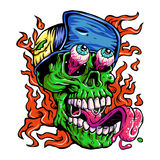 Detailed Zombie wearing hat Head Illustration Stock Photography