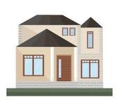 Detailes de la casa de los ejemplos del vector del edificio de la fachada de la arquitectura Fotos de archivo