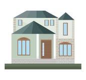 Detailes de la casa de los ejemplos del vector del edificio de la fachada de la arquitectura Fotos de archivo libres de regalías