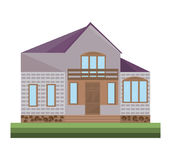 Detailes de la casa de los ejemplos del vector del edificio de la fachada de la arquitectura Fotografía de archivo libre de regalías