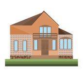 Detailes de la casa de los ejemplos del vector del edificio de la fachada de la arquitectura Foto de archivo