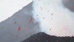Detailexplosies van lava stock videobeelden