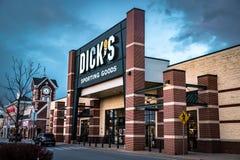 Detailhandel van Dicks de Sportieve Goederen Stock Foto