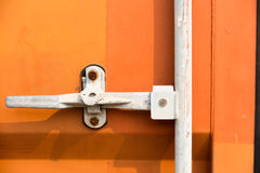 Detailing lock for container door. Royalty Free Stock Photo