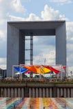 Detaill of Grande Arche in La Defense, Paris, France Stock Image