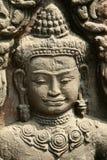 Detailleer beeldhouwwerk in Angkor Wat Stock Afbeeldingen