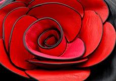 Detailm de sac à main de femmes avec la fleur rose Images stock