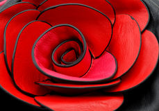 Detailm della borsa delle donne con il fiore di rosa Immagini Stock