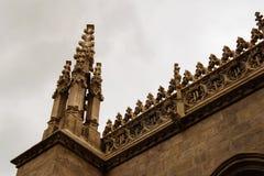 Detailmening van gotisch dak stock afbeelding