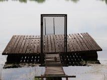 Detailmening van poort aan vissersmol Royalty-vrije Stock Afbeeldingen