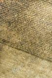 Detailmening van Rosetta Stone Stock Afbeeldingen