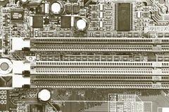 Detailmotherboards Stockfotografie