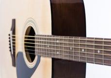 Detailnahaufnahme der klassischen Gitarre Stockfotos