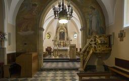 Detailod der Innenraum der Kirche Stockbild