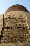 Details über Wand von Stupa Saranath Lizenzfreies Stockfoto