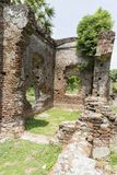 Details of abandoned half-ruined medieval temple india Stock Image