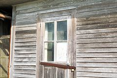 Louisiana Abandonment. Details of an abandoned wooden building in South Louisiana Stock Images