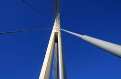 Details of Ada bridge tower in Belgrade, Serbia Stock Photos