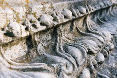 Details of the Agora. Stone details of the Ancient Agora Stock Photo