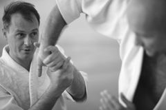 Details of aikido technique Royalty Free Stock Photos