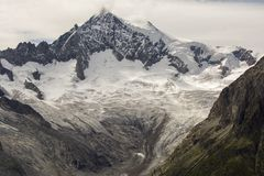 Glacier details. Details on the Aletsch glacier. Glaciers worldwide are melting at an alarming rate and Aletsch glacier is no exception Royalty Free Stock Images