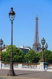 Details of the Alexandre III bridge Royalty Free Stock Images