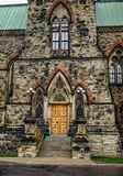 Details of ancient building in Ottawa, Canada stock photography