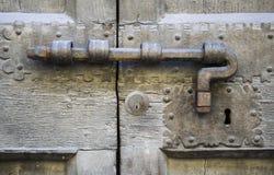 Details of an ancient Italian door. Stock Image
