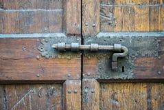 Details of an ancient Italian door. Stock Images