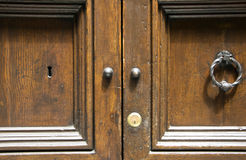 Details of an ancient Italian door in Florence, (Italy) Royalty Free Stock Photography