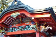 Details of the Kirishima Jingu shrine architecture Royalty Free Stock Photo