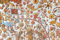 Details of an Ancient Mural in Peru Royalty Free Stock Photo