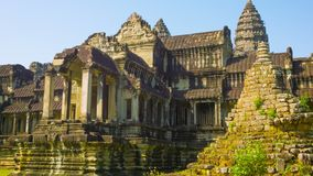 Details of Angkor Wat temple. Cambodia stock footage
