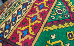 Details of arabic textile Royalty Free Stock Photos