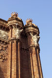 Details of the Arc de Triomf Royalty Free Stock Images