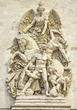 Details in the Arc de Triomphe. Paris Stock Images