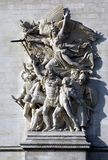 Details of Arc de Triomphe in Paris, France, Europe Royalty Free Stock Image