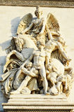 Details in the Arc de Triomphe - Paris. This image represents Details in the Arc de Triomphe - Paris Royalty Free Stock Images